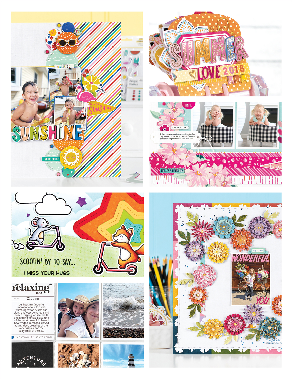 Scrapbook & Cards Today - Summer 2021 Issue Collage