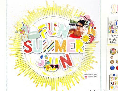 A Sunny Summer Days Layout + Video with Erica Thompson!